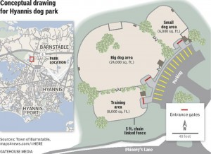barnstable dog park conceptual drawing