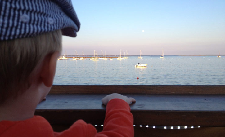 The view from the Aqua bar in Provincetown.