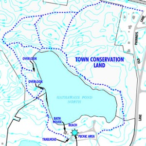 map of hathaway's pond trail