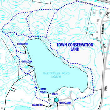 Map Of Hathawayu0027s Pond Trail