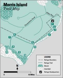 Map of morris island trail in chatham ma