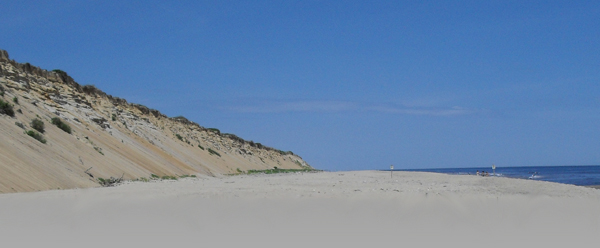 stay off the sand dunes at marconi beach!