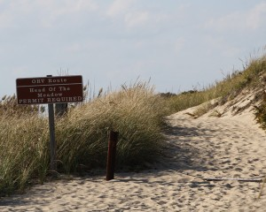 orv trail access at head of the meadow beach in truro