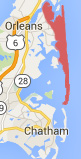 map of nauset beach in orleans, ma
