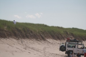 Never walk on sand dunes at the beach!!!