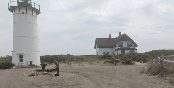 The ORV Trails on Race Point beach drive right by historic Race Point Lighthouse.