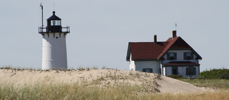 the orv trails at race point beach allow oversand driving access that passes historic race point light in provincetown.