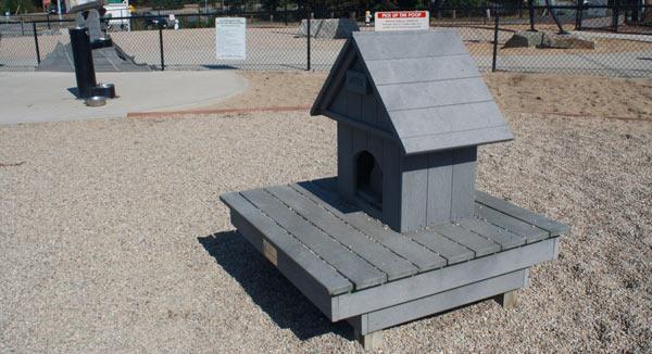 Dog house in Provincetown's dog park, Pilgrim Bark Park.