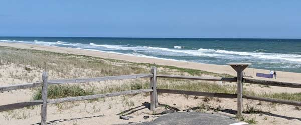 The small parking lot at Coast Guard Road Beach in Truro is for residents only. But the ORV trail access is available to vehicles with the Cape Cod National Seashore overland driving sticker.