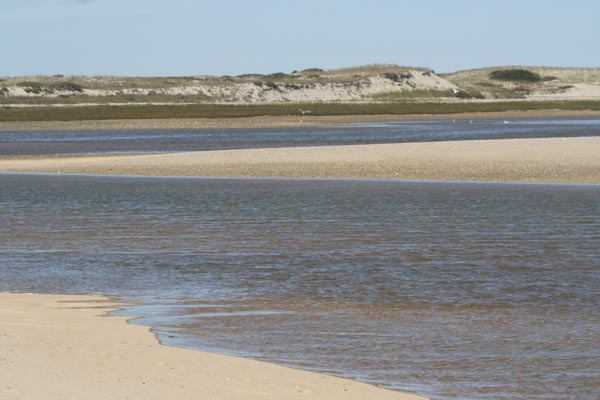 This view of Hatches Harbor at Race Point Beach is accessible only by driving on the oversand trails.