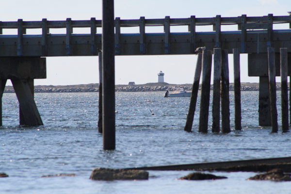 Woods End Lighthouse in Provincetown is easily visible from the beaches of Commercial Street overlooking Provincetown Harbor.