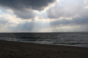 sunlight-on-rain-at-beach